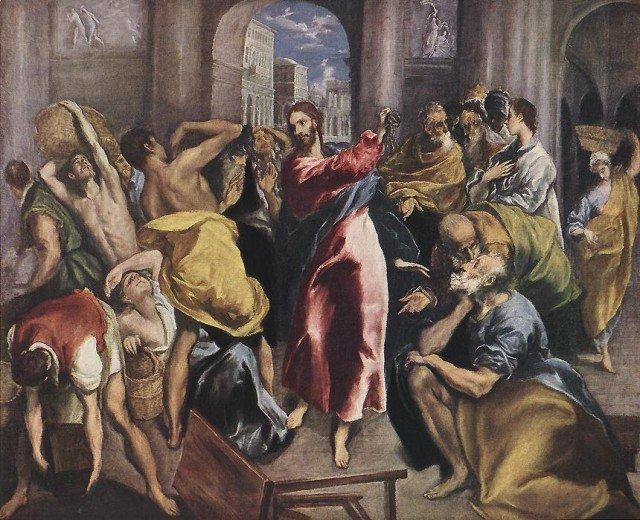 El Greco, Vertreibung der Händler aus dem Tempel