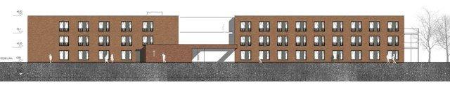 So soll der Neubau des Hauses Maria in Geseke aussehen. Bezugsfertig ist er voraussichtlich im Fruhjahr 2013. Grafik: AGN/Ibbenbüren