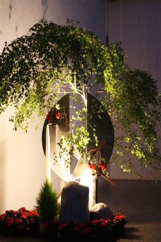 Ostern: Ikebana von Schwester Walburga Maria Thomes (Foto: SMMP/Thomes)