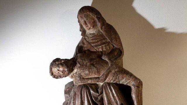 Pietà in der Krypta des Bergklosters Bestwig. (Foto: SMMP/Beer)