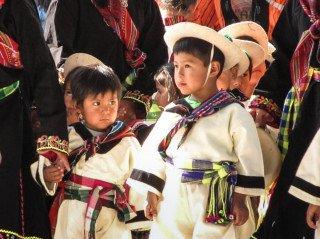 Die Kinder aus der Aldea führten fröhliche Tänze auf. Foto: Schmidt-Teige/SMMP