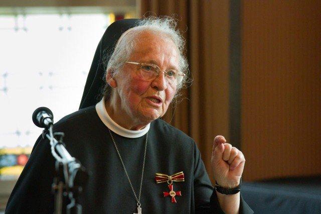 Schwester Maria Virgina: Ich habe am allermeisten zu danken. (Foto: SMMP/Beer)