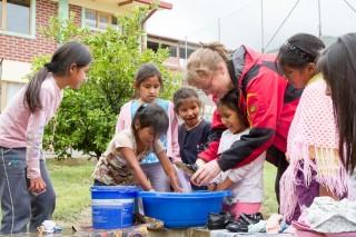 In der Aldea ist Petra Sadura Mutter von 180 Kindern. (Foto: SMMP/Bock)