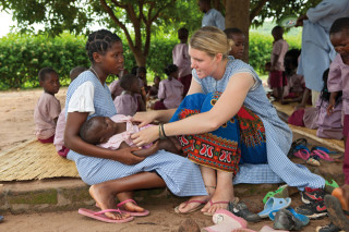 Freiwilliger Einsatz in Mosambik: Maren Remme leistete ihren Dienst als Missionarin auf Zeit 2011/2012 in Metarica. Foto: Achim Pohl