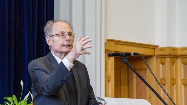 Bischof Joachim Wanke sprach beim Placida-Empfang zum Thema Barmherzigkeit. (Foto: SMMP/Beer)