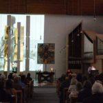 Rund 250 Besucher erleben die Darbietung von Ludger Hinse und Barbara Marreck im Bergkloster mit. Foto: SMMP/Ulrich Bock