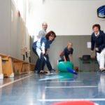 Beim Physioparcours der Bildungsakademie für Therapieberufe konnte man: Kissen werfen. (Foto: Bock/SMMP)
