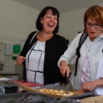 Flammkuchen und andere Leckereien entstanden beim Kochworkshop. (Foto: Bock/SMMP)