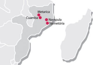 Die Standorte Metarica, Cuamba, Nampula und Nametória liegen alle nördlich der Schneise, in der der Zyklon Idai gewütet hat.