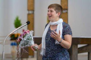 Eva Diepes bedankt sich für die herzliche Aufnahme im Bergkloster und freut sich auf die neue Herausforderung. Foto: SMMP/Ulrich Bock